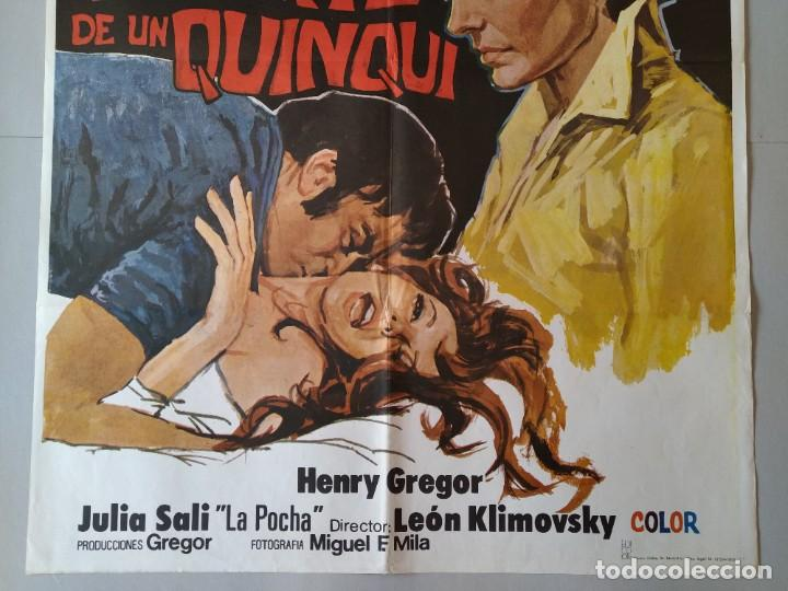 Cine: CARTEL CINE POSTER ORIGINAL - MUERTE DE UN QUNQUI - CARMEN SEVILLA - PAUL NASCHY 1975 .. L3428 - Foto 3 - 245254130
