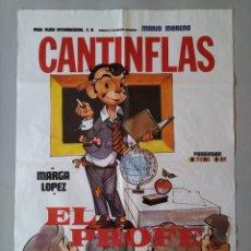 Cine: CARTEL CINE POSTER ORIGINAL - CANTINFLAS EL PROFE - MARIO MORENO - AÑO 1982 .. L3430. Lote 245257205