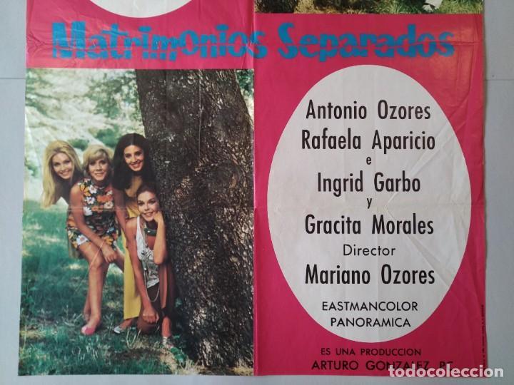 Cine: CARTEL CINE POSTER ORIGINAL - MATRIMONIOS SEPARADOS - CONCHA VELASCO - AÑO 1969 .. L3434 - Foto 3 - 245271345