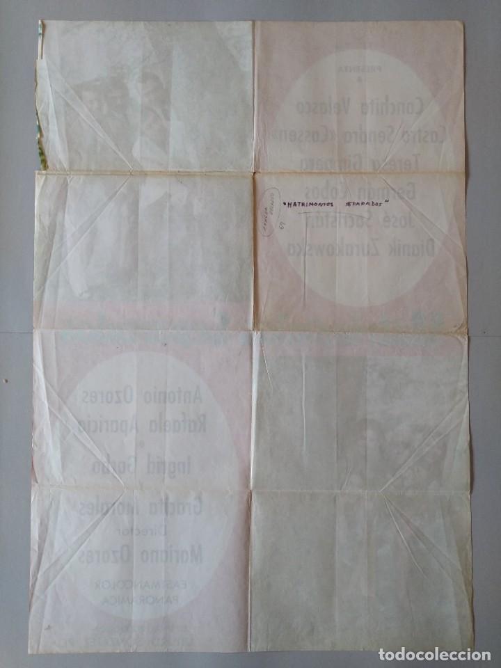 Cine: CARTEL CINE POSTER ORIGINAL - MATRIMONIOS SEPARADOS - CONCHA VELASCO - AÑO 1969 .. L3434 - Foto 4 - 245271345