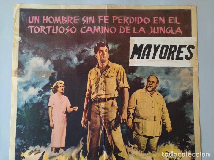 Cine: CARTEL CINE POSTER ORIGINAL - EL CAMINO DE LA JUNGLA - ROCK HUDSON - BURL IVES - AÑO 1962 .. L3435 - Foto 2 - 245274315