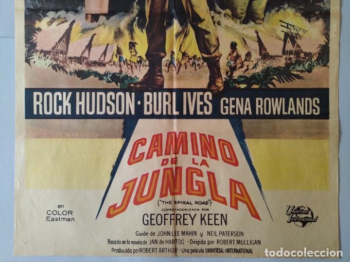 Cine: CARTEL CINE POSTER ORIGINAL - EL CAMINO DE LA JUNGLA - ROCK HUDSON - BURL IVES - AÑO 1962 .. L3435 - Foto 3 - 245274315