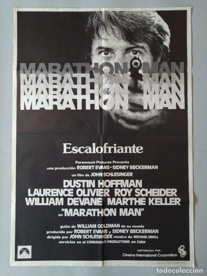 CARTEL CINE POSTER ORIGINAL - MARATHON MAN - AÑO 1976 .. L3436 (Cine - Posters y Carteles - Suspense)