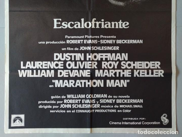 Cine: CARTEL CINE POSTER ORIGINAL - MARATHON MAN - AÑO 1976 .. L3436 - Foto 3 - 245275985