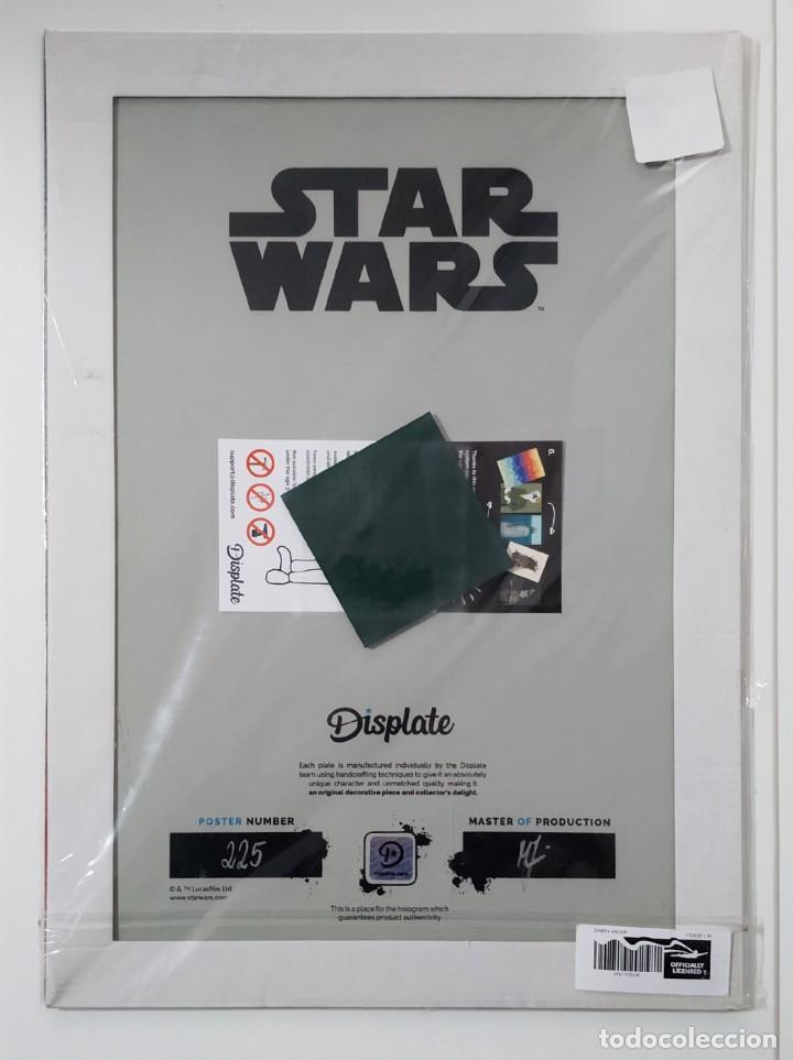 Cine: Fascinante póster de metal con arte de Star Wars con licencia oficial, Poster Nº 225, Firmado Master - Foto 3 - 245308355