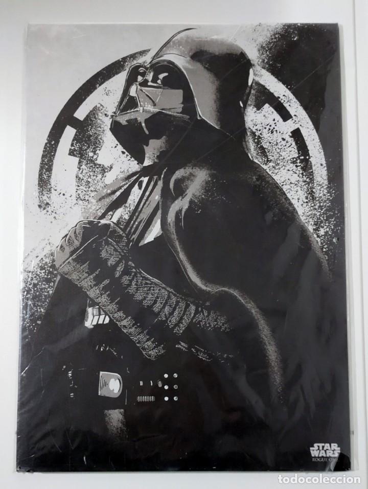FASCINANTE PÓSTER DE METAL CON ARTE DE STAR WARS CON LICENCIA OFICIAL, POSTER Nº 180, FIRMADO MASTER (Cine - Posters y Carteles - Ciencia Ficción)