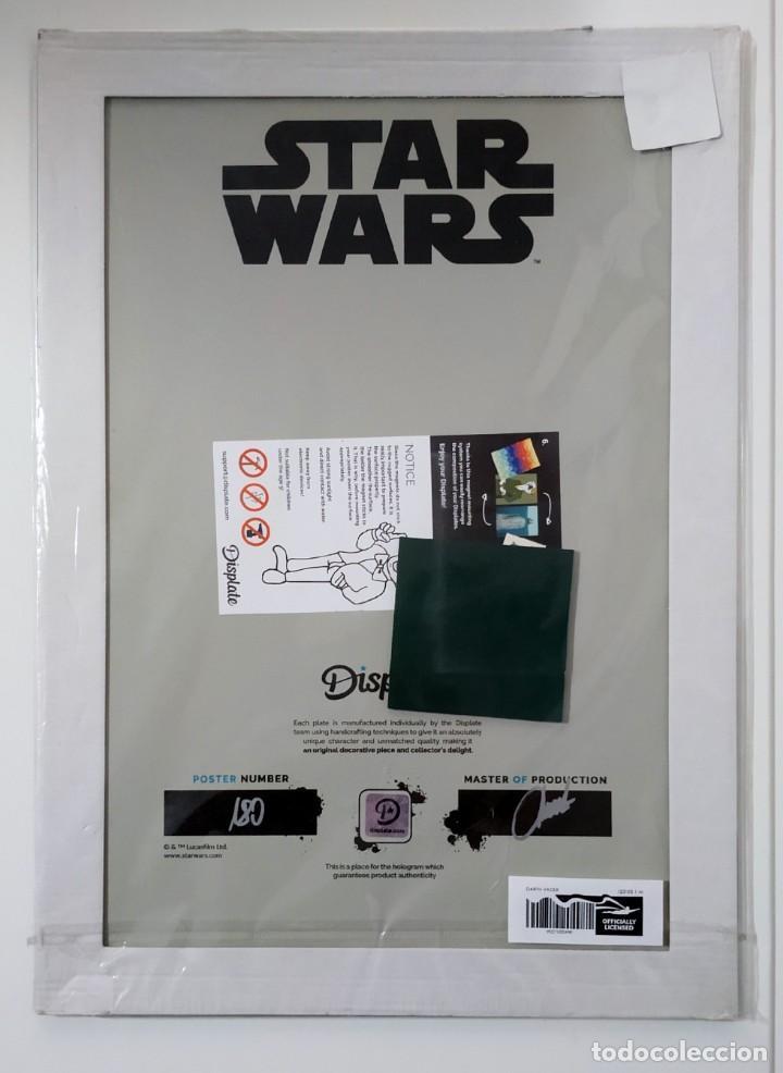 Cine: Fascinante póster de metal con arte de Star Wars con licencia oficial, Poster Nº 180, Firmado Master - Foto 3 - 245308670