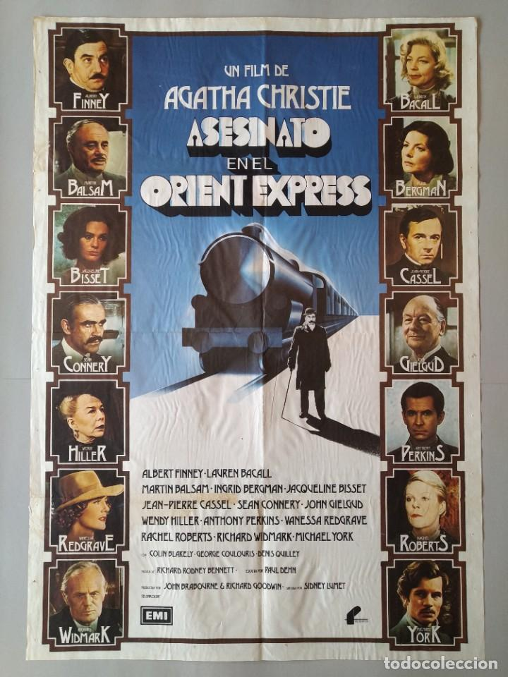 CARTEL CINE POSTER ORIGINAL ASESINATO EN EL ORIENT EXPRESS - AGATA CHISTIE - AÑO 1974 .. L3437 (Cine - Posters y Carteles - Suspense)