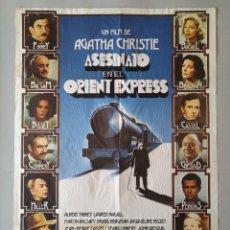 Cine: CARTEL CINE POSTER ORIGINAL ASESINATO EN EL ORIENT EXPRESS - AGATA CHISTIE - AÑO 1974 .. L3437. Lote 245422815