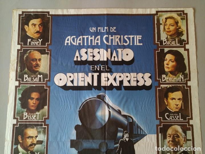 Cine: CARTEL CINE POSTER ORIGINAL ASESINATO EN EL ORIENT EXPRESS - AGATA CHISTIE - AÑO 1974 .. L3437 - Foto 2 - 245422815