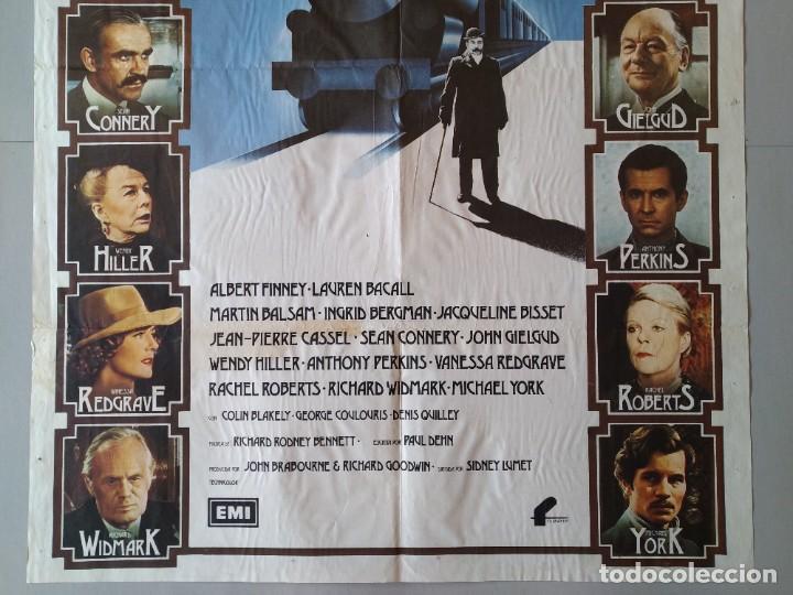 Cine: CARTEL CINE POSTER ORIGINAL ASESINATO EN EL ORIENT EXPRESS - AGATA CHISTIE - AÑO 1974 .. L3437 - Foto 3 - 245422815