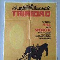 Cine: CARTEL CINE POSTER ORIGINAL - LE SEGUIAN LLAMANDO TRINIDAD - TERENCE HILL, BUD SPENCER 1972 .. L3438. Lote 245425050