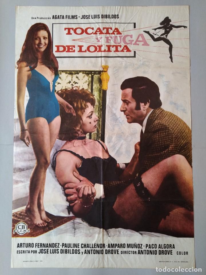CARTEL CINE POSTER ORIGINAL - TOCATA Y FUGA DE LOLITA - DIRECTOR ANTONIO DROVE AÑO 1974 .. L3439 (Cine - Posters y Carteles - Clasico Español)