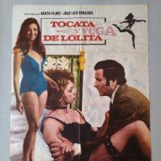 Cine: CARTEL CINE POSTER ORIGINAL - TOCATA Y FUGA DE LOLITA - DIRECTOR ANTONIO DROVE AÑO 1974 .. L3439. Lote 245425945