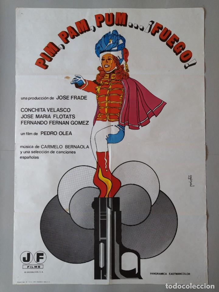 CARTEL CINE POSTER ORIGINAL - PIM PAM PUM ... FUEGO - CONCHITA VELASCO AÑO 1975 .. L3440 (Cine- Posters y Carteles - Drama)