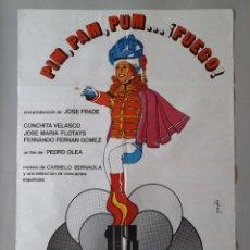 Cine: CARTEL CINE POSTER ORIGINAL - PIM PAM PUM ... FUEGO - CONCHITA VELASCO AÑO 1975 .. L3440. Lote 245426580