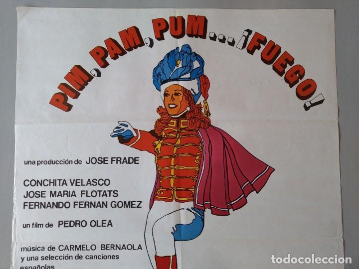 Cine: CARTEL CINE POSTER ORIGINAL - PIM PAM PUM ... FUEGO - CONCHITA VELASCO 1975 - JANO .. L3443 - Foto 2 - 245430370