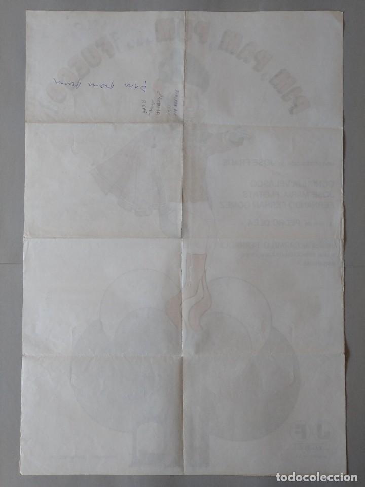 Cine: CARTEL CINE POSTER ORIGINAL - PIM PAM PUM ... FUEGO - CONCHITA VELASCO 1975 - JANO .. L3443 - Foto 4 - 245430370