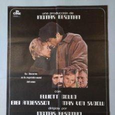 Cine: CARTEL CINE POSTER ORIGINAL - LA CARCOMA - ELLIOTT GOULD - BIBI ANDERSSON - AÑO 1973.. L3445. Lote 245431975