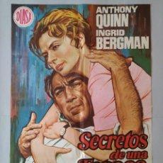 Cine: CARTEL CINE POSTER ORIGINAL - SECRETOS DE UNA ESPOSA - ANTHONY QUINN - INGRID BERGMAN 1970 .. L3447. Lote 245437785