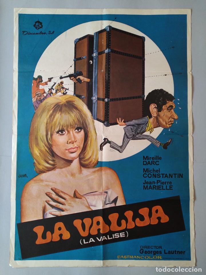 CARTEL CINE POSTER ORIGINAL - LA VALIJA - MIREILLE DARC - MICHEL CONSTANTIN 1974 DIB. JANO .. L3449 (Cine- Posters y Carteles - Drama)