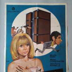 Cine: CARTEL CINE POSTER ORIGINAL - LA VALIJA - MIREILLE DARC - MICHEL CONSTANTIN 1974 DIB. JANO .. L3449. Lote 245441630