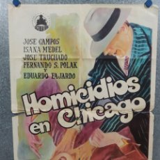 Cine: HOMICIDIOS EN CHICAGO. JOSÉ CAMPOS, ISANA MEDEL, JOSÉ TRUCHADO. AÑO 1969. POSTER ORIGINAL. Lote 245442735