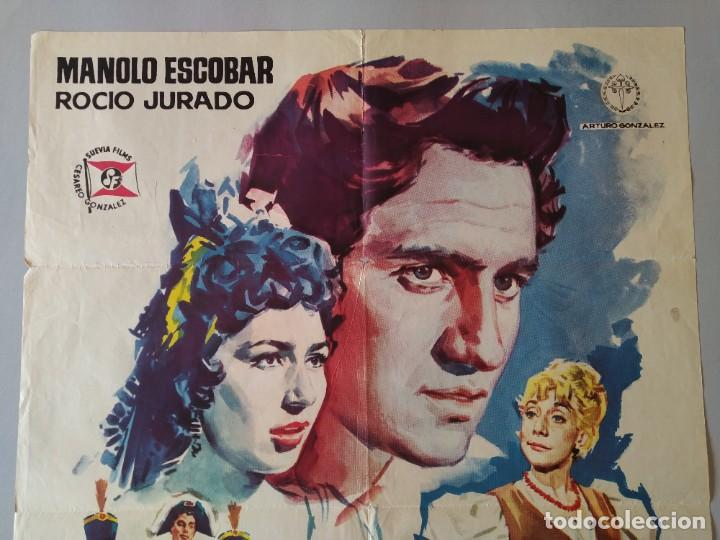 Cine: CARTEL CINE POSTER ORIGINAL - LOS GUERRILLEROS - MANOLO ESCOBAR - ROCIO JURADO AÑO 1962 JANO.. L3451 - Foto 2 - 245444105