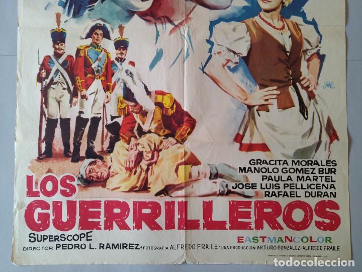 Cine: CARTEL CINE POSTER ORIGINAL - LOS GUERRILLEROS - MANOLO ESCOBAR - ROCIO JURADO AÑO 1962 JANO.. L3451 - Foto 3 - 245444105