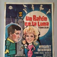 Cine: CARTEL CINE POSTER ORIGINAL - UN RATON EN LA LUNA - AÑO 1963 .. L3454. Lote 245448990