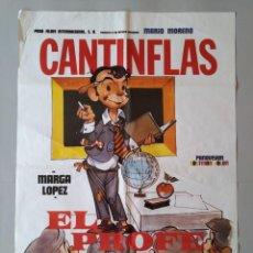 Cine: CARTEL CINE POSTER ORIGINAL - CANTINFLAS EL PROFE - MARIO MORENO - AÑO 1982 .. L3455. Lote 245449990