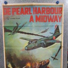 Cine: DE PEARL HARBOUR A MIDWAY . MAKOTO SATÔ, MISA UEHARA. AÑO 1979. POSTER ORIGINAL. Lote 245450540