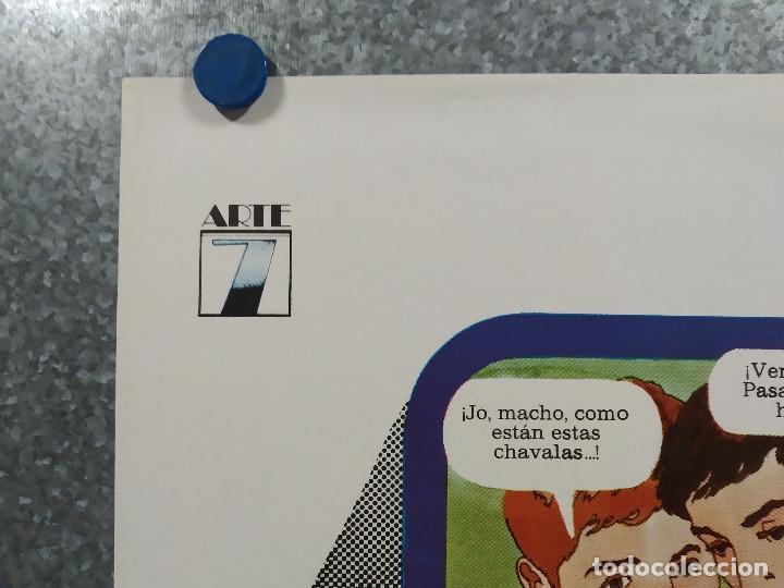 Cine: El último guateque. Cristina Galbó, Miguel Ayones, Nadia Morales. AÑO 1978. POSTER ORIGINAL - Foto 2 - 245450955