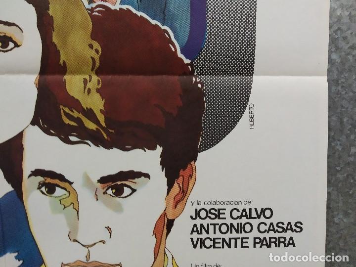 Cine: El último guateque. Cristina Galbó, Miguel Ayones, Nadia Morales. AÑO 1978. POSTER ORIGINAL - Foto 4 - 245450955