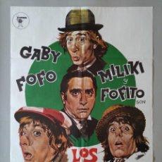 Cine: CARTEL CINE POSTER ORIGINAL - LOS PADRINOS - GABY FOFO MILIKI Y FOFITO .. L3456. Lote 245615270