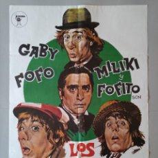 Cine: CARTEL CINE POSTER ORIGINAL - LOS PADRINOS - GABY FOFO MILIKI Y FOFITO .. L3457. Lote 245622280