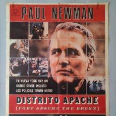 Cine: CARTEL CINE POSTER ORIGINAL - DISTRITO APACHE THE BRONX - PAUL NEWMAN - AÑO 1981 .. L3459. Lote 245638000
