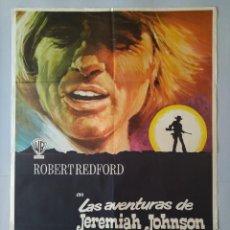 Cine: CARTEL CINE POSTER ORIGINAL - LAS AVENTURAS DE JEREMIAH JOHNSON - AÑO 1972 .. L3461. Lote 245650905