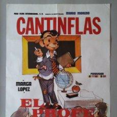 Cine: CARTEL CINE POSTER ORIGINAL - CANTINFLAS EL PROFE - MARIO MORENO - AÑO 1982 .. L3464. Lote 245709520
