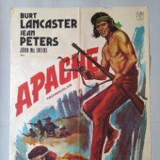 Cine: CARTEL CINE POSTER ORIGINAL - APACHE - BURT LANCASTER - JEAN PETERS - 1974 JANO .. L3466. Lote 245712815