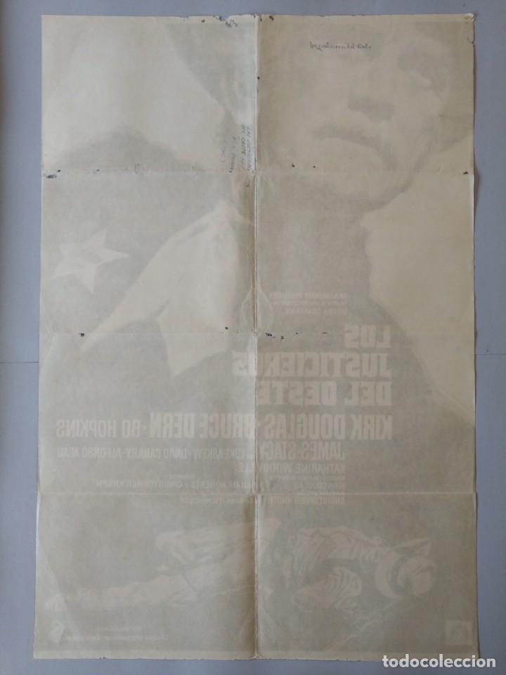 Cine: CARTEL CINE ORIGINAL - LOS JUSTICIEROS DEL OESTE - KIRK DOUGLAS - BRUCE DERN - 1975 MAC .. L3467 - Foto 5 - 245908515