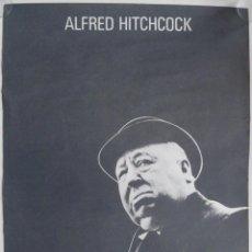 Cine: CARTEL ALFRED HITCHCOCK - FILMOTECA NACIONAL - ENERO * FEBRERO 1978. Lote 245943800