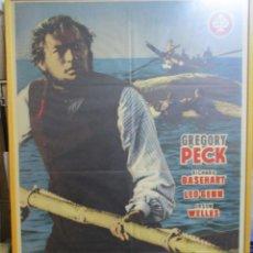 Cine: CARTEL ORIGINAL DE EPOCA - MOBY DICK - GREGORY PECK - ENMARCADO. Lote 245963595