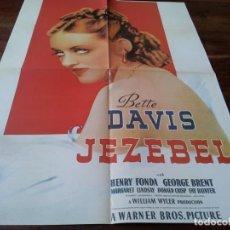 Cine: JEZEBEL JEZABEL - BETTE DAVIS, HENRY FONDA, WILLIAM WYLER - POSTER DE REVISTA DOBLE. Lote 245975085