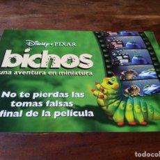 Cine: BICHOS, UNA AVENTURA EN MINIATURA - ANIMACION - PIXAR - MINI POSTER ORIGINAL DISNEY 1998. Lote 245989420