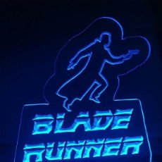 Cine: CARTEL LUMINOSO BLADE RUNNER LED LAMP FIGURE POSTER LAMPARA SERIE PELICULA. Lote 246116855