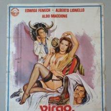 Cine: CARTEL CINE ORIGINAL - VIRGO, TAURO Y CAPRICORNIO - EDWIGE FENECH - AÑO 1977...L3477. Lote 246430770