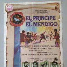 Cine: CARTEL CINE ORIGINAL - EL PRINCIPE Y EL MENDIGO - OLIVER REED - CHARLTON HESTON - AÑO 1977 ...L3483. Lote 246447045