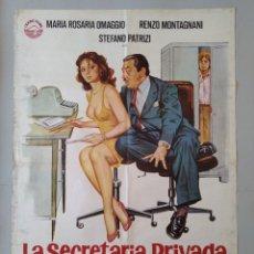 Cine: CARTEL CINE ORIGINAL - LA SECRETARIA PRIVADA DE MI PADRE - ALVARO VITALI - AÑO 1977...L3485. Lote 246451720