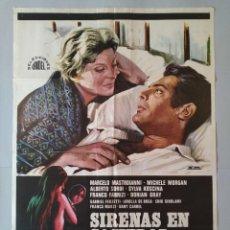 Cine: CARTEL CINE ORIGINAL - SIRENAS EN SOCIEDAD - MARCELO MASTROIANNI - MICHELLE MORGAN - AÑO 1971..L3495. Lote 246468935